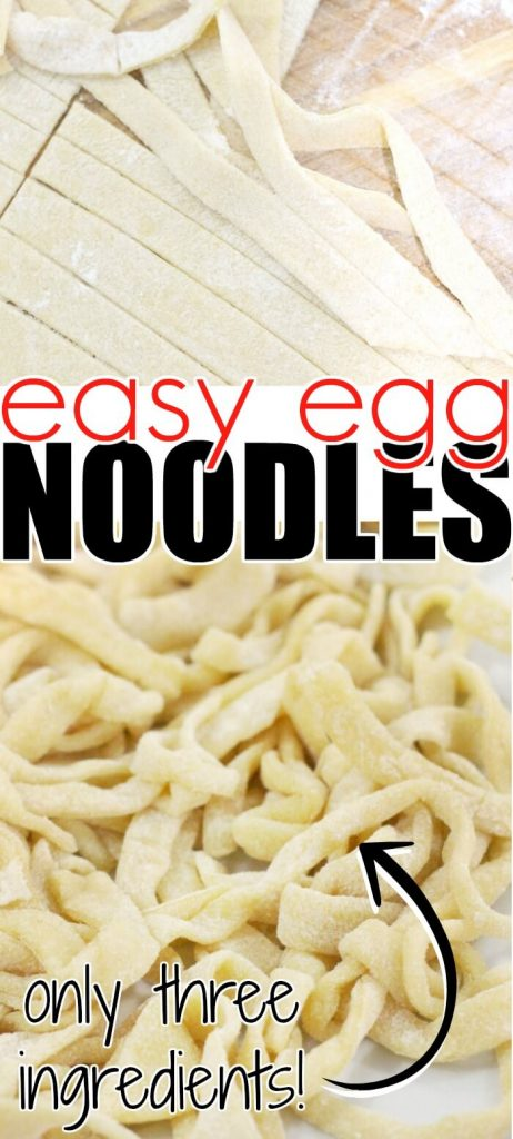 EASY EGG NOODLE RECIPE