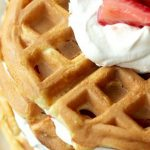 EASY STRAWBERRY SHORTCAKE WAFFLES