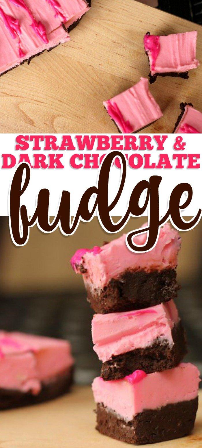 STRAWBERRY DARK CHOCOLATE FUDGE