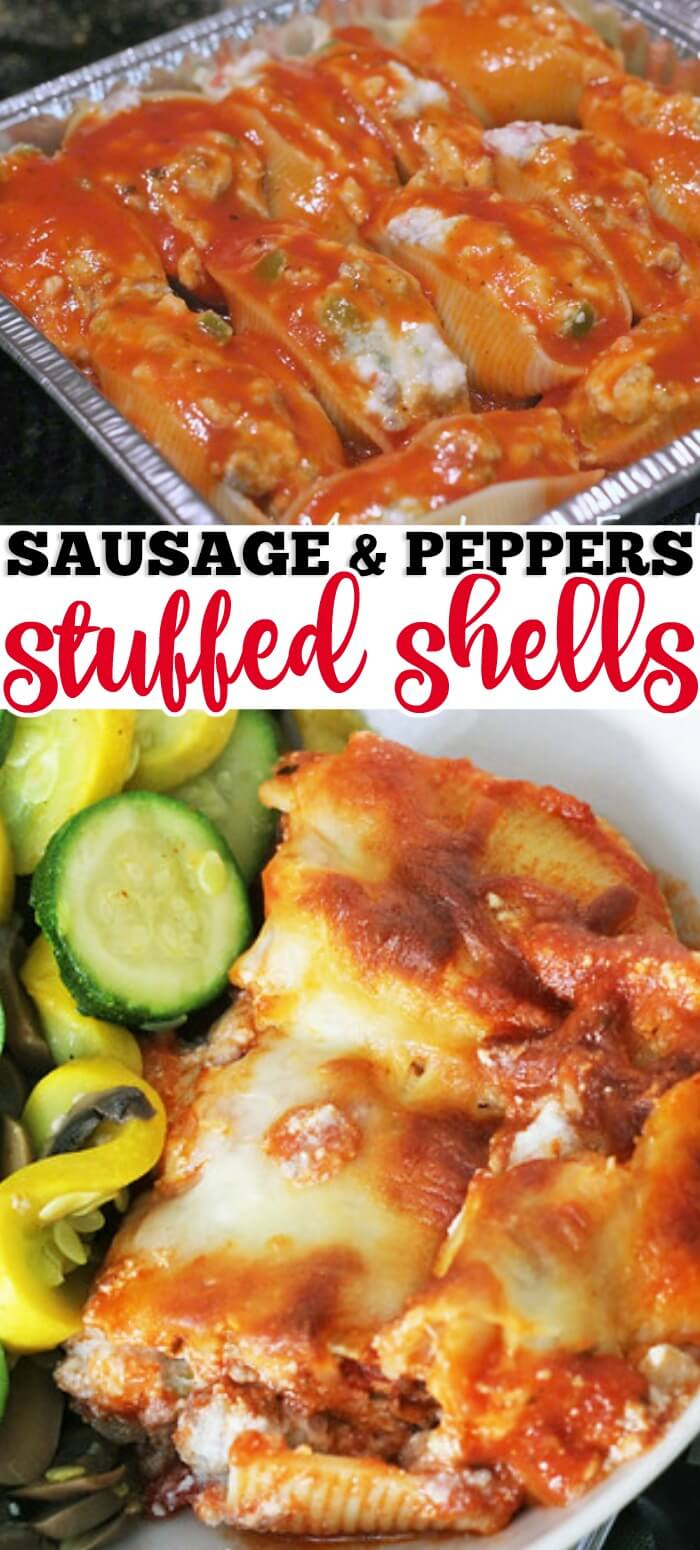 SAUSAGE AND PEPPER STUFF SHELLS RECIPE