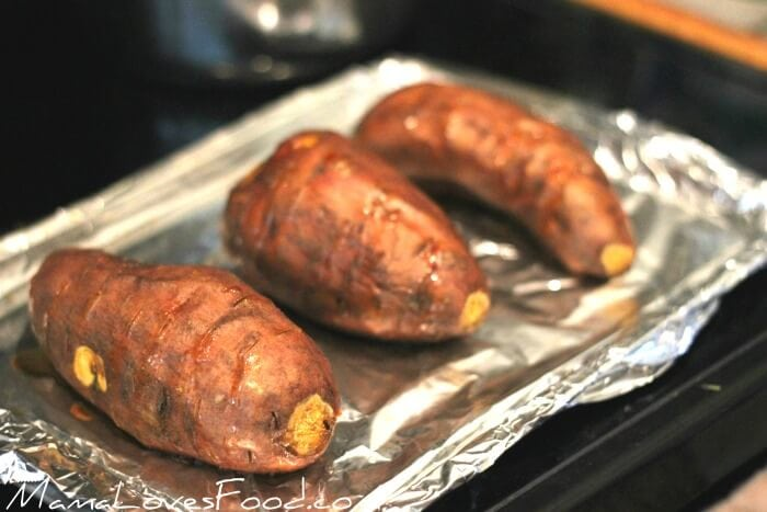 baking sweet potatoes