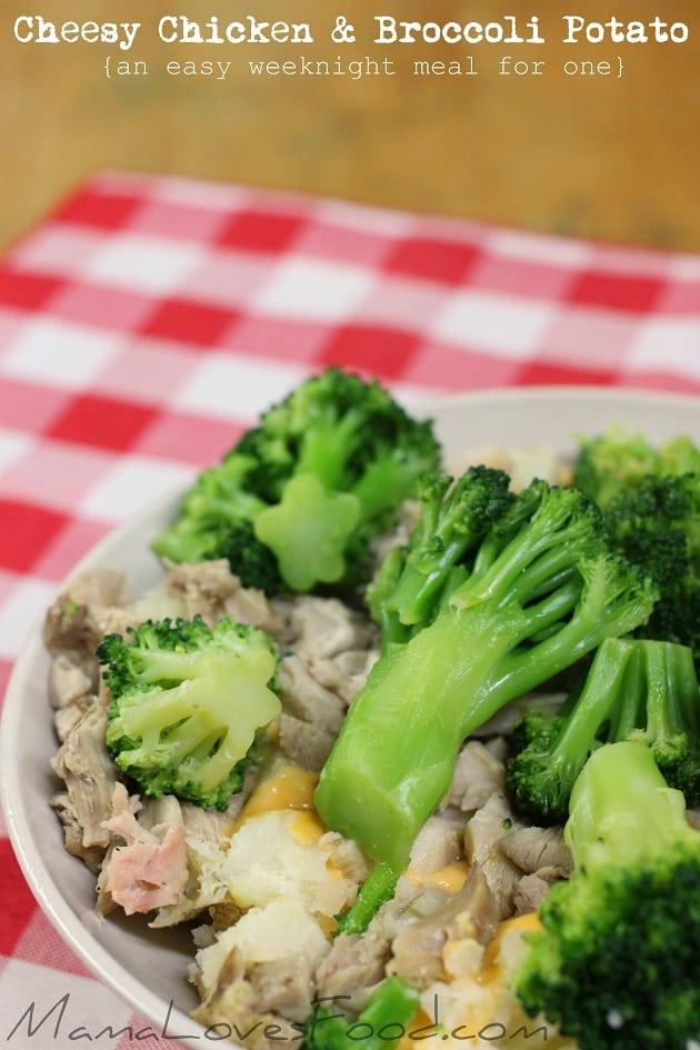 Cheesy Chicken and Broccoli Baked Potato
