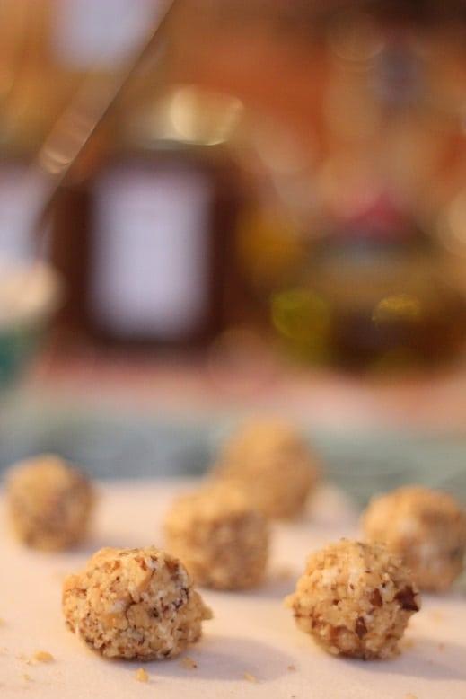 Walnut Crusted Honey Cranberry Cheese Ball