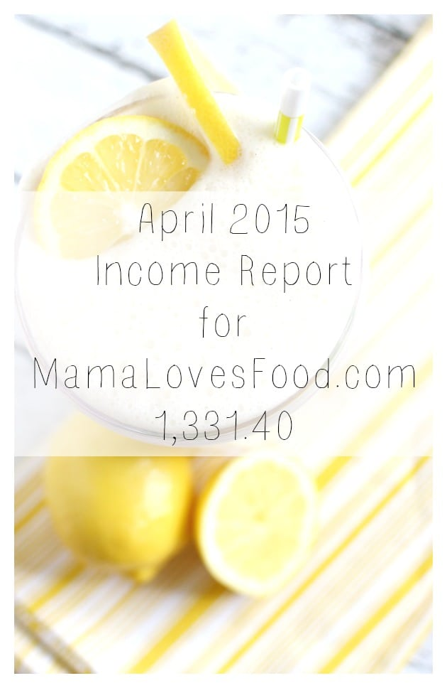 Blogging Income and Traffic Report April 2015 -$1,331.40