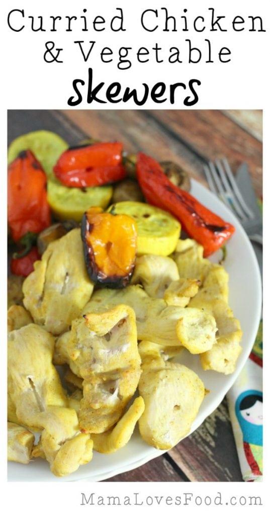 Curried Chicken and Vegetable Skewers