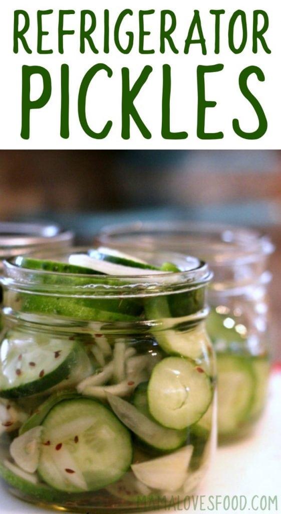 Garlic Dill Refrigerator Pickles Recipe