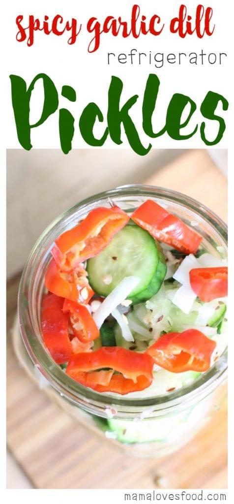 Spicy Garlic Refrigerator Pickles Recipe