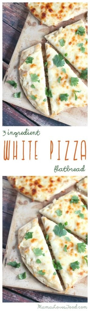 Three Ingredient White Pizza Flatbread