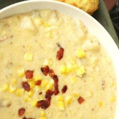 Corn Chowder – Slow Cooker Corn and Potato Chowder