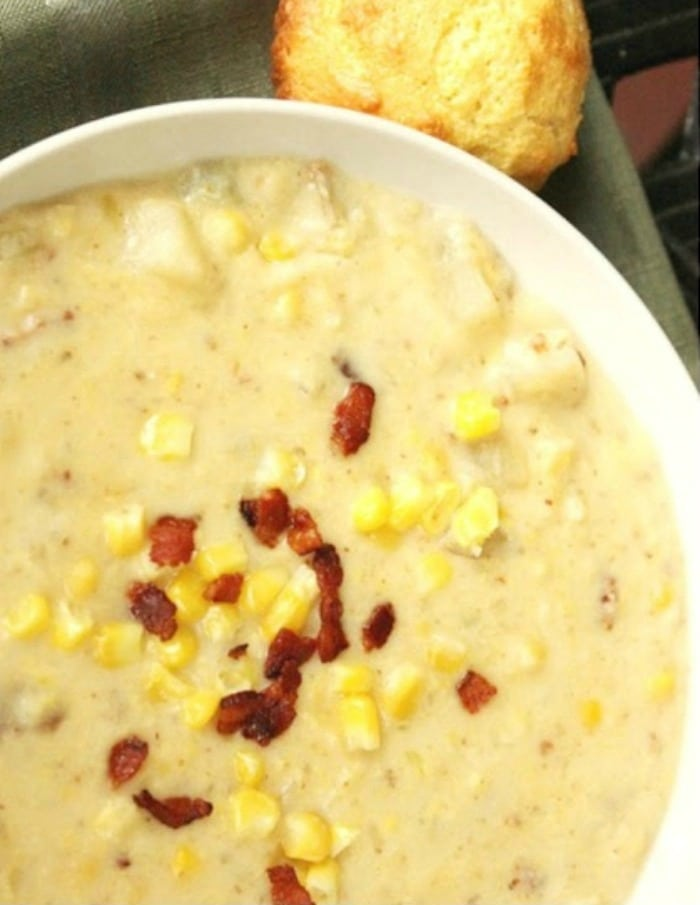 How to make an easy corn and potato chowder for your family dinner