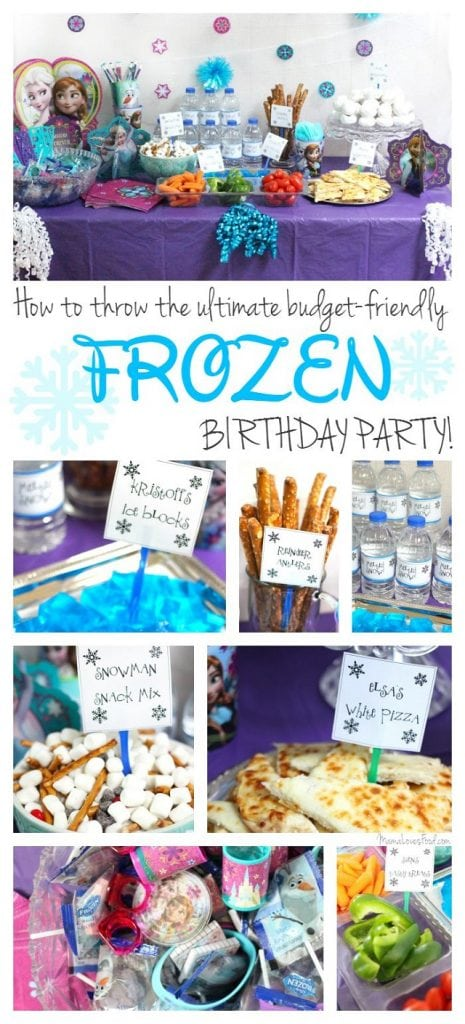 How to Throw the Ultimate Budget Friendly FROZEN Birthday Party!
