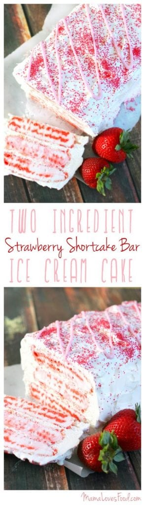 Strawberry Shortcake Bar Ice Cream Cake