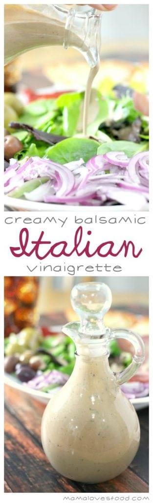 Creamy Balsamic Italian Vinaigrette