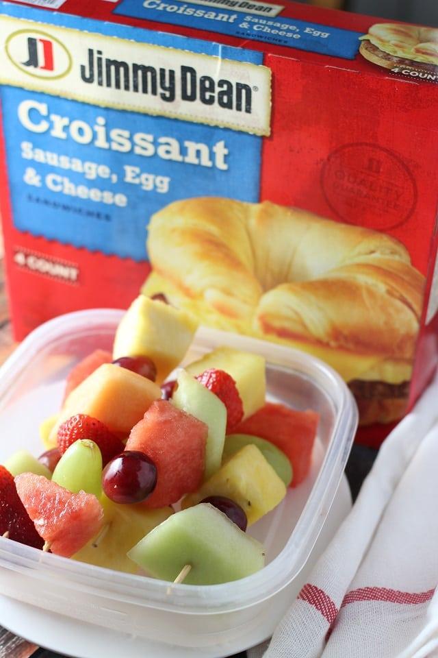 Quick Breakfast Fruit Skewers