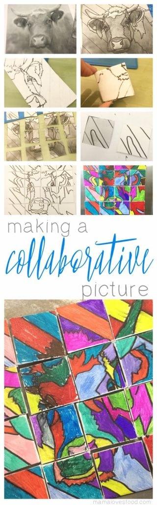 Making a Collaborative Picture! School Homeschool craft art class ideas!
