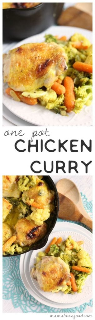 One Pot Chicken & Vegetable Curry Recipe