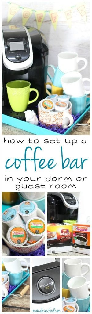 How to Set up a Coffee  Bar for your Dorm or Guest Room!