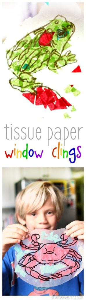 Tissue Paper Window Clings Craft Tutorial - Faux Stained Glass