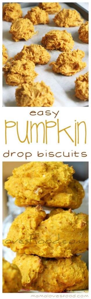Easy Pumpkin Drop Biscuits