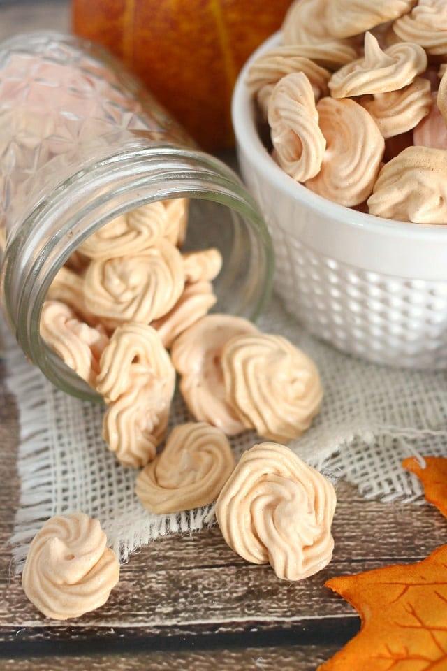 Pumpkin Spice Meringue Cookie Recipe