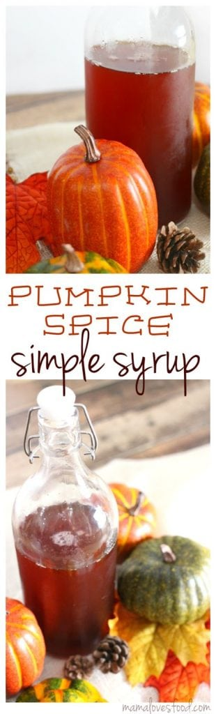 Pumpkin Spiced Simple Syrup Recipe