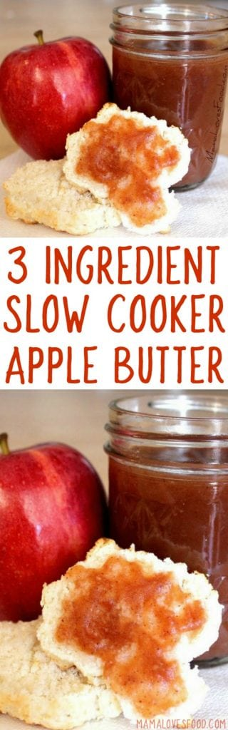three ingredient slow cooker apple butter
