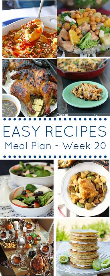 The Easy Dinner Recipes Meal Plan – Week 20