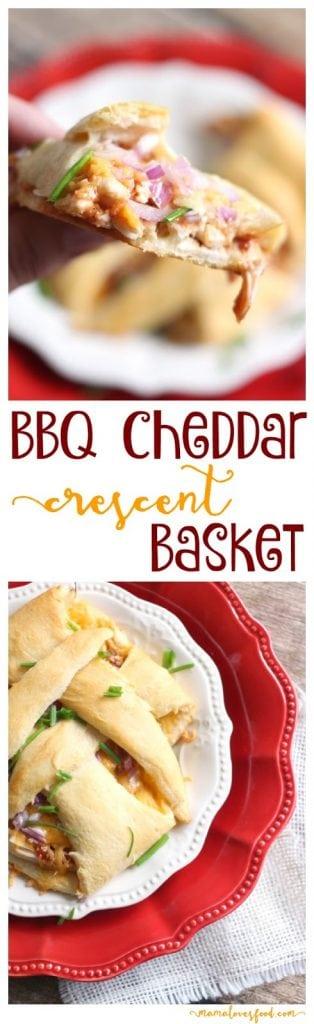 Barbecue Cheddar Crescent Baskets