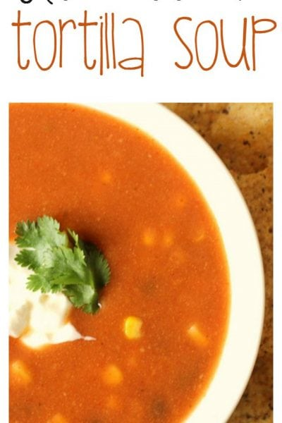 Tortilla Soup Recipe for the Crock Pot Slow Cooker.