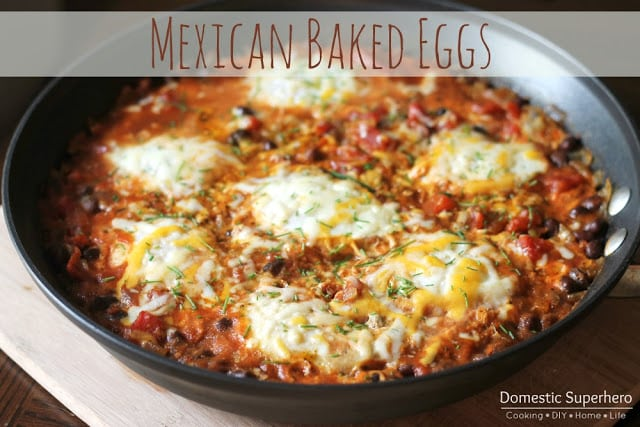 Mexican Baked Eggs from Domestic Superhero