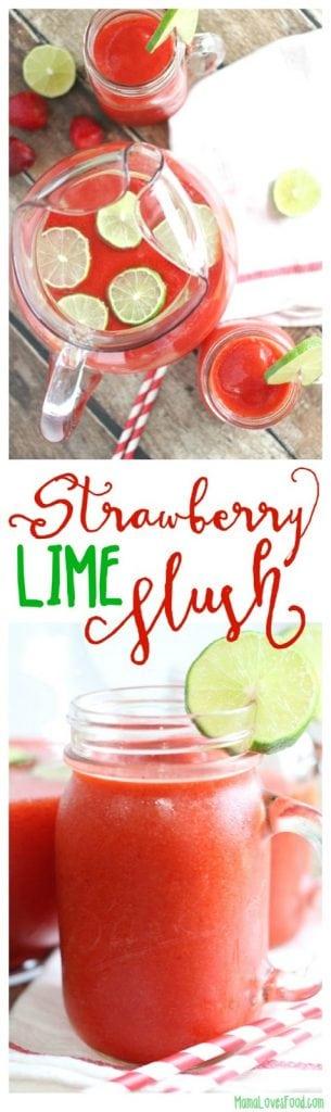 Strawberry Lime Slush Cocktail Recipe