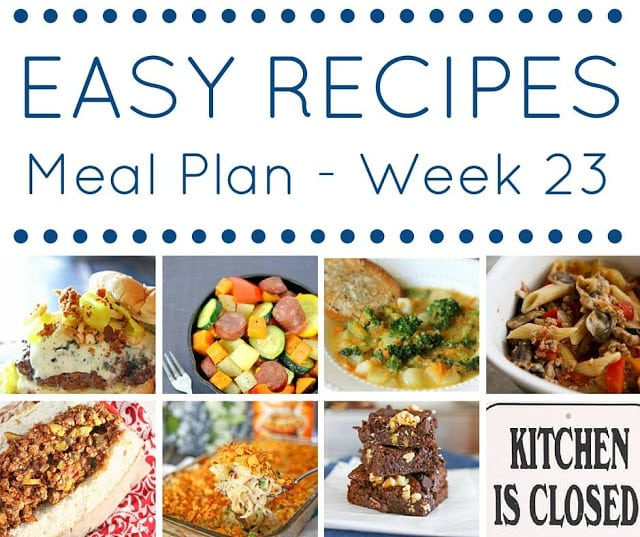 The easy dinner recipes meal plan week 23 mama loves food the easy dinner recipes meal plan forumfinder Image collections
