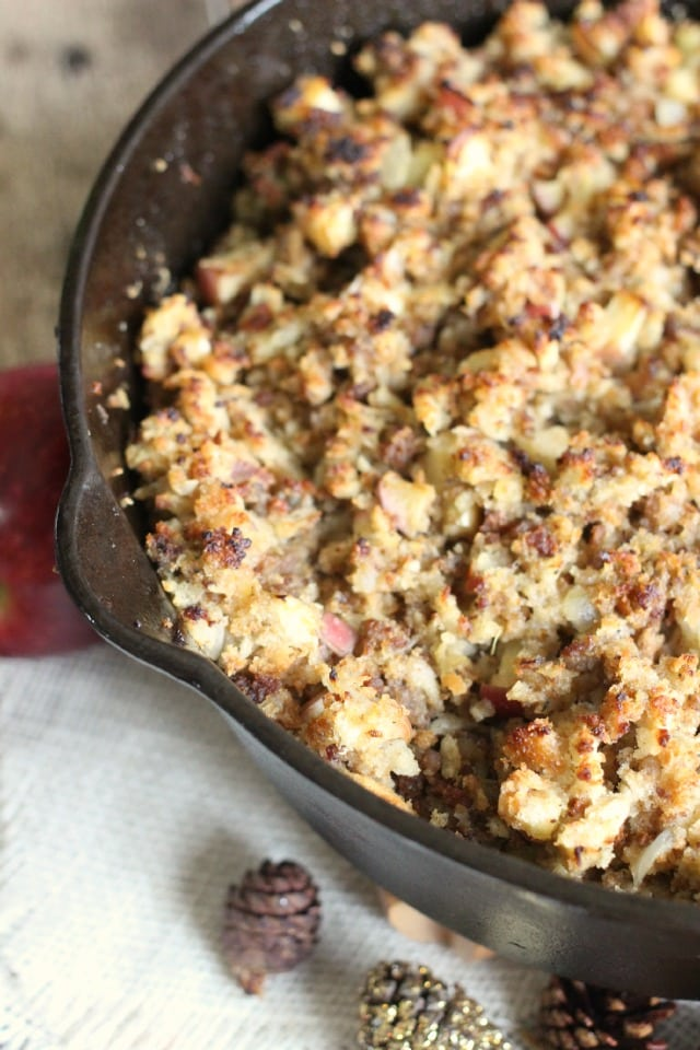 how to make pork sausage stuffing