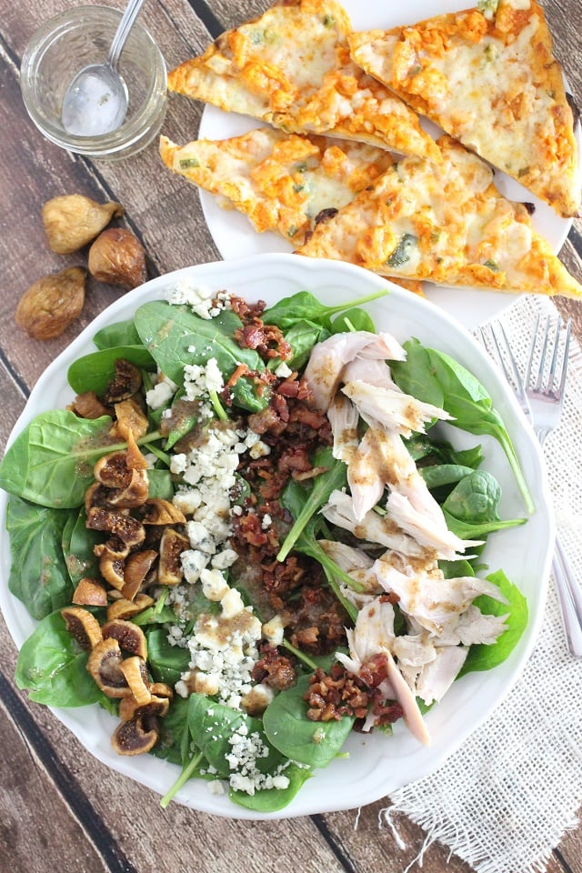 Fig and Blue Cheese Spinach Salad