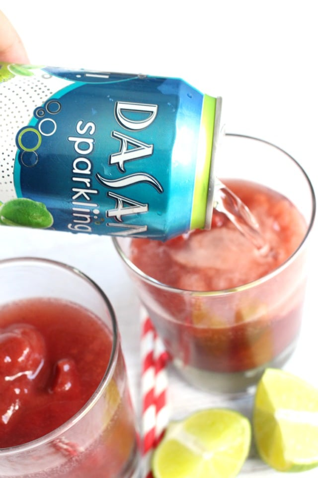 Sparkling Dark Cherry Lime Slush Recipe