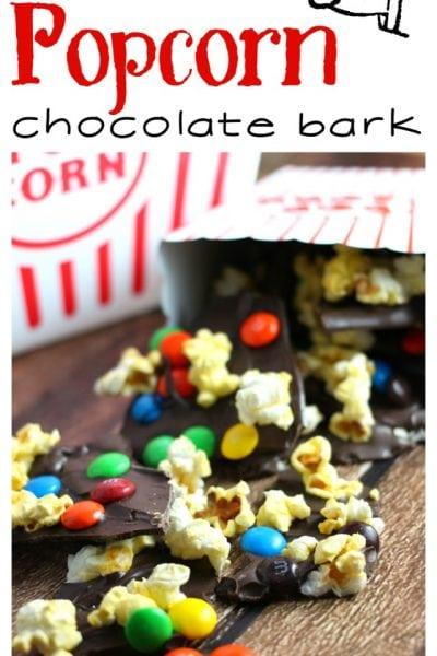 Sweet and Salty Movie Popcorn Chocolate Bark