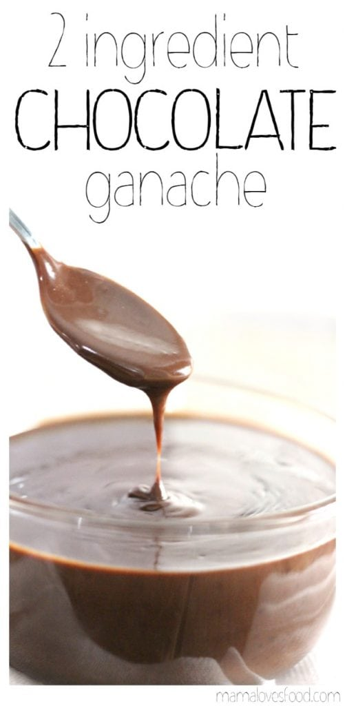 Two Ingredient Microwave Chocolate Ganache Recipe