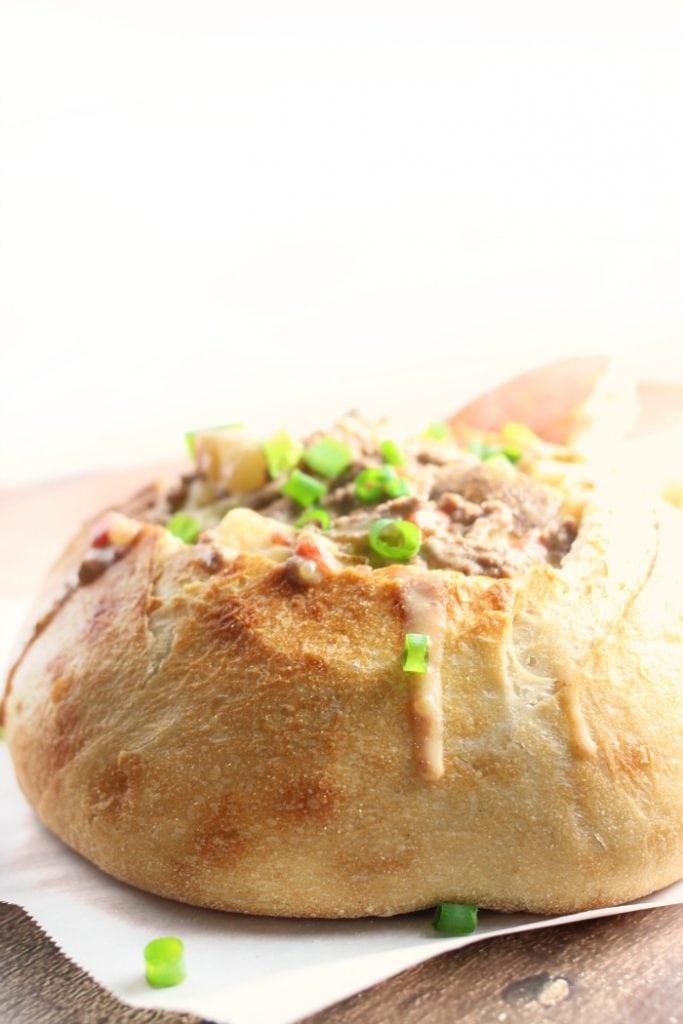 Spicy Cheeseburger and Potato Soup Recipe