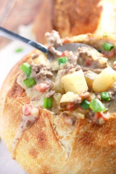 Cheeseburger Soup – Easy Cheeseburger Soup Recipe