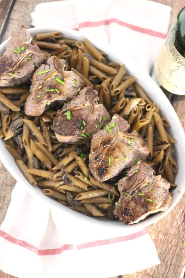One Pot Seared Lamb and Penne from Mama Loves Food