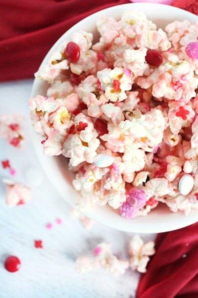 Vanilla Butter Valentine's Day Popcorn