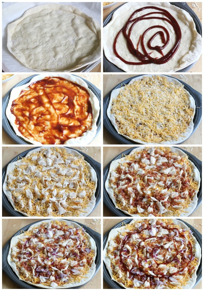 Easy Barbecue Bacon Chicken Pizza Recipe