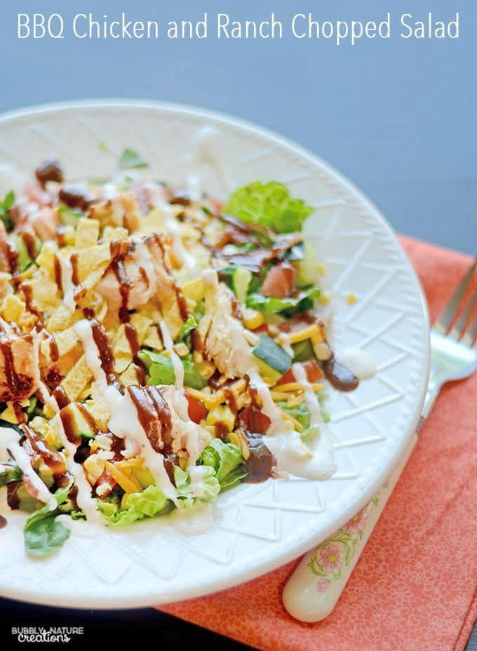 BBQ Chicken and Ranch Chopped Salad from Sprinkle Some Fun