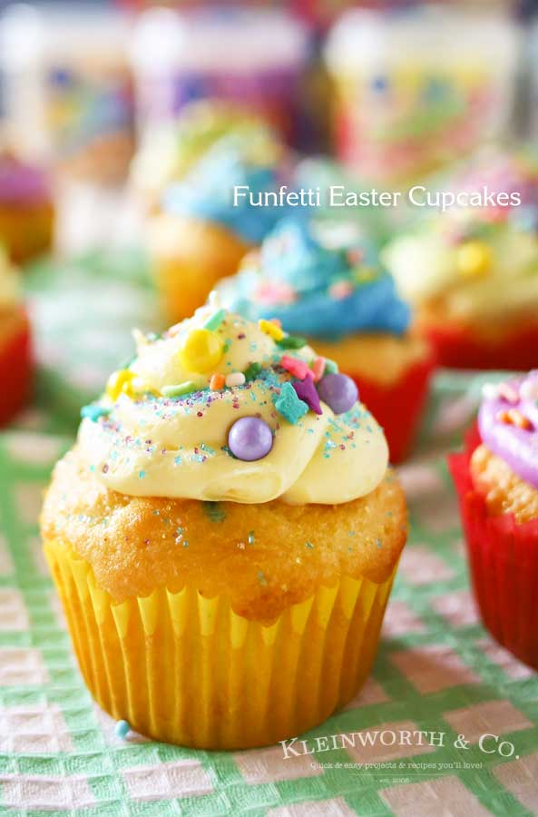 Funfetti Easter Cupcakes from Kleinworth and Co.