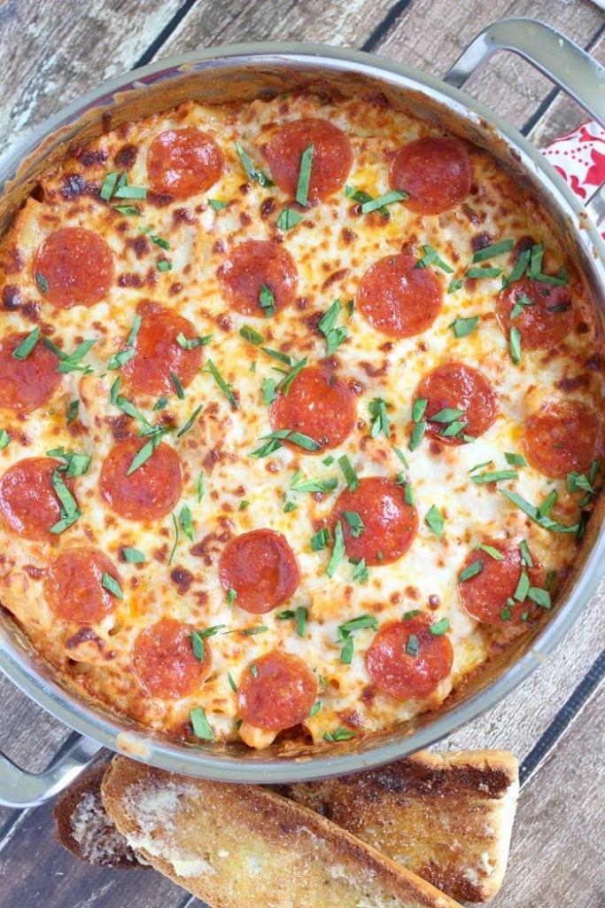 Pepperoni Pizza Baked Ziti