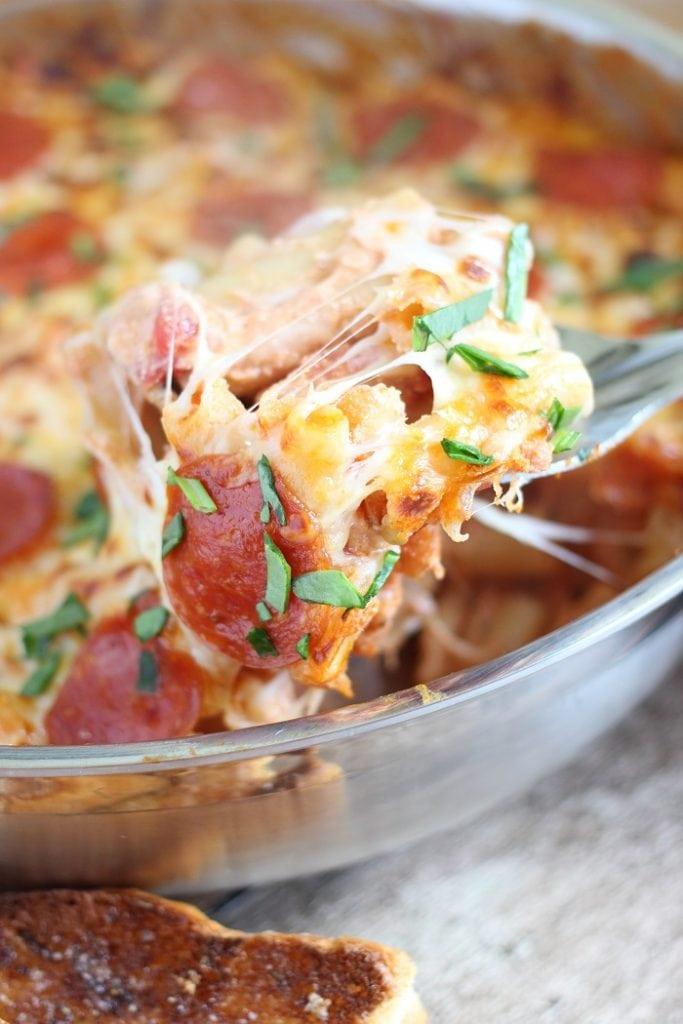 Pepperoni Pizza Baked Ziti Recipe