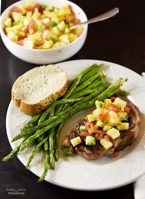 Teriyaki Steak with Pineapple Salsa Recipe