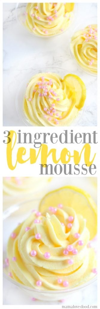 Three Ingredient Lemon Mousse