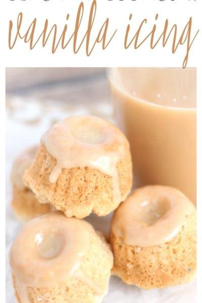 White Cake Cake Mix Cookies with Vanilla Glaze