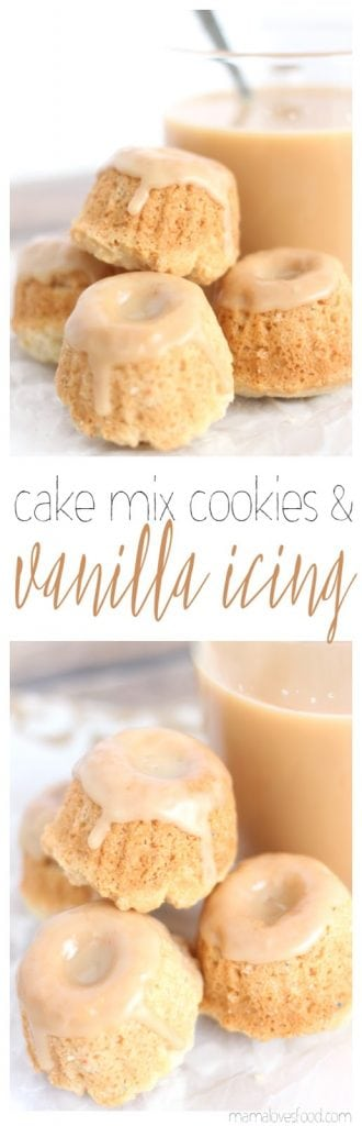 White Cake Cake Mix Cookies with Vanilla Glaze Recipe
